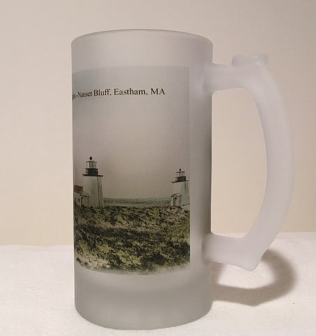 Colorful Frosted Glass Beer Of Three Sisters Lights In Eastham, MA - That Fabled Shore Home Decor