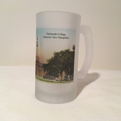 Colorful Frosted Glass Beer Mug Of Dartmouth College's Baker Library - That Fabled Shore Home Decor