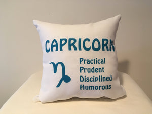 Art Deco Zodiac Pillow - Capricorn - That Fabled Shore Home Decor