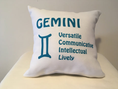Art Deco Zodiac Pillow - Gemini - That Fabled Shore Home Decor