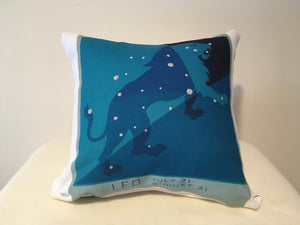 Art Deco Zodiac Pillow - Leo - That Fabled Shore Home Decor