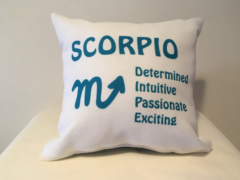 Art Deco Zodiac Pillow - Scorpio - That Fabled Shore Home Decor