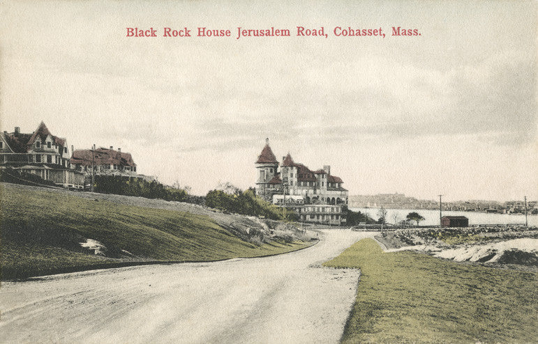Cohasset, MA - Black Rock House, Jerusalem Road Circa 1900 Night Light - That Fabled Shore Home Decor