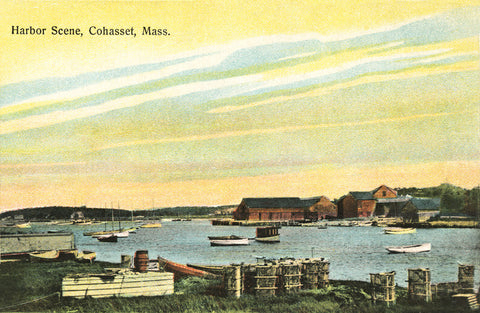 Harbor Sunset Cohasset, MA - Circa 1890 Night Light - That Fabled Shore Home Decor