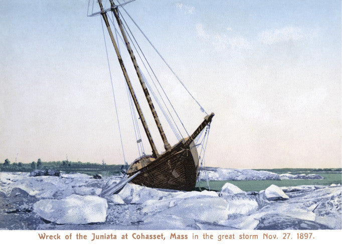 "Cohasset - Wreck of ""Juniata"" - That Fabled Shore Home Decor"