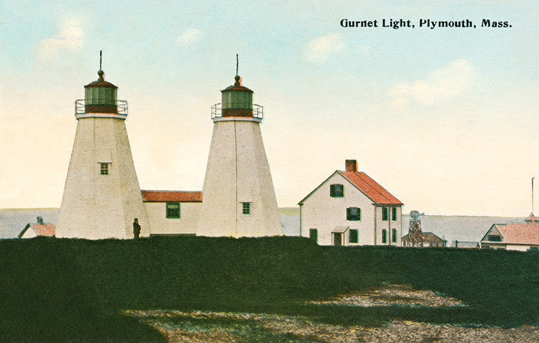 Plymouth - Gurnet Lights Night Light - That Fabled Shore Home Decor