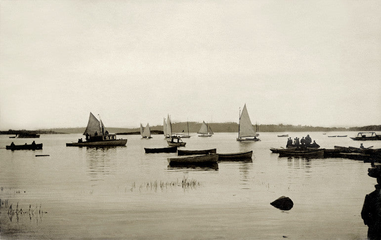 Hingham - Harbor 1907 - That Fabled Shore Home Decor