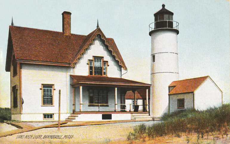 Night Light - Barnstable - Sandy Neck Lighthouse - That Fabled Shore Home Decor