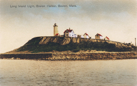 Long Island Light - Boston Harbor Night Light - That Fabled Shore Home Decor