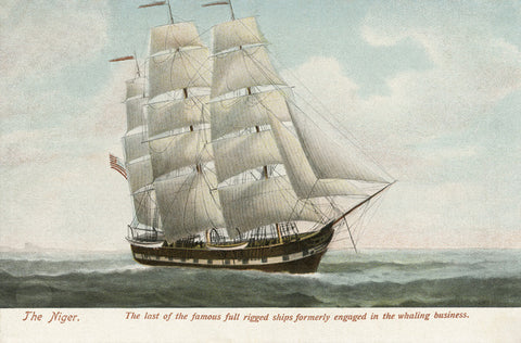 "Night Light - Whaling Ship ""The Niger"" - That Fabled Shore Home Decor"