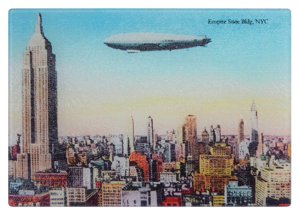 NY - The Empire State Building As Colorful Tempered Glass Cutting Board - That Fabled Shore Home Decor