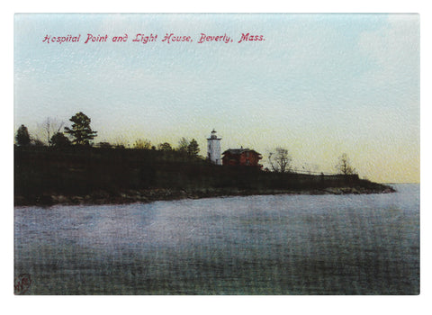 Beverly - Hospital Point Lighthouse Tempered Glass Cutting Board - That Fabled Shore Home Decor