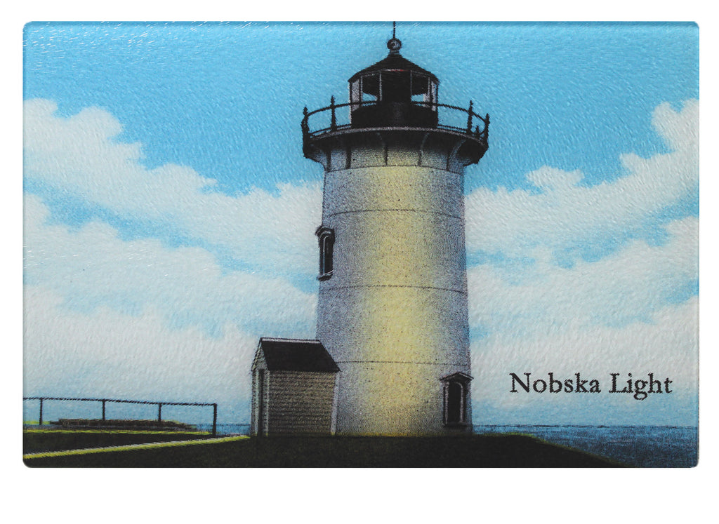 Falmouth Nobska Light Glass Cutting Board - That Fabled Shore Home Decor