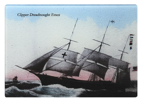 Clipper Dreadnought Of Newburyport Glass Cutting Board - That Fabled Shore Home Decor