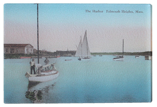Falmouth Harbor Glass Cutting Board - That Fabled Shore Home Decor