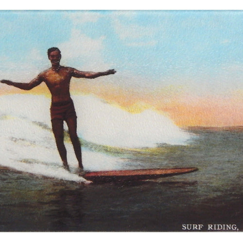 Hawaii Surfer Tempered Glass Cutting Board - That Fabled Shore Home Decor