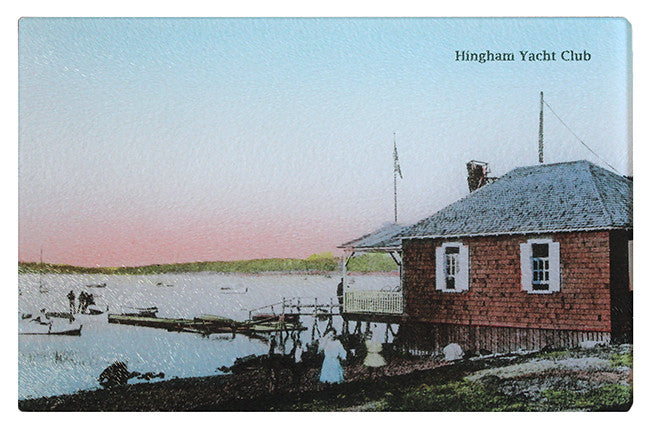Hingham Yacht Club Glass Cutting Board - That Fabled Shore Home Decor