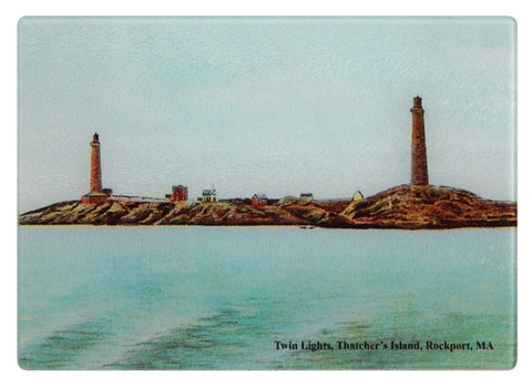 Rockport - Twin Lights, Thatchers Island Cutting Board