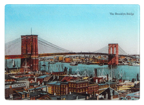 NY - Brooklyn Bridge Cutting Board - That Fabled Shore Home Decor