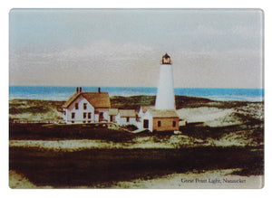 Nantucket Great Point Light Glass Cutting Board - That Fabled Shore Home Decor