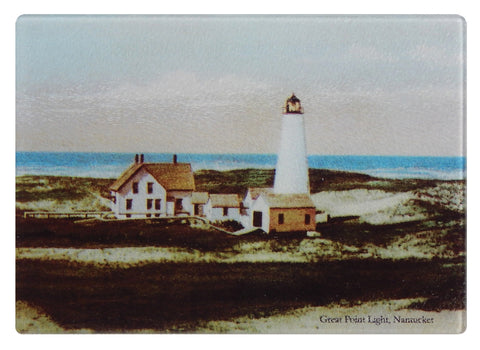 Nantucket Great Point Light Glass Cutting Board
