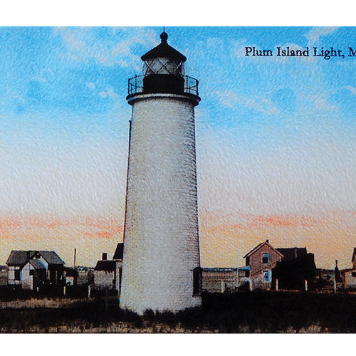 Plum Island Lighthouse Glass Cutting Board - That Fabled Shore Home Decor