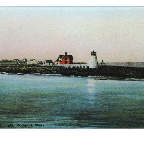 Straitmouth Lighthouse Off Rockport Ma As Colorful Tempered Glass Cutting Board