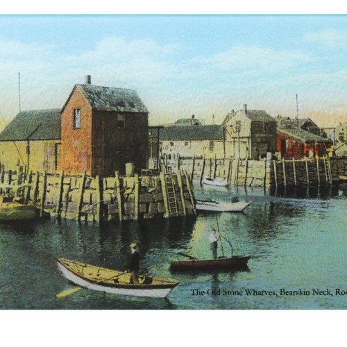 Motif #1 Old Stone Wharves Of Rockport's Bearskin Neck As Tempered Glass Cutting Board - That Fabled Shore Home Decor