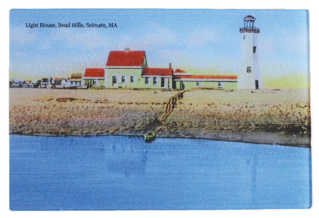 Scituate Light - Glass Cutting Board 8 Inch X 12