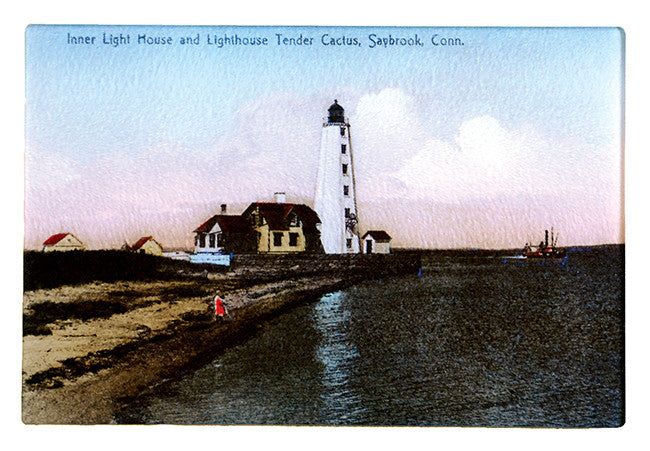 CT - Saybrook Inner Light House Glass Cutting Board - That Fabled Shore Home Decor