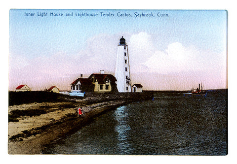 CT - Saybrook Inner Light House Glass Cutting Board