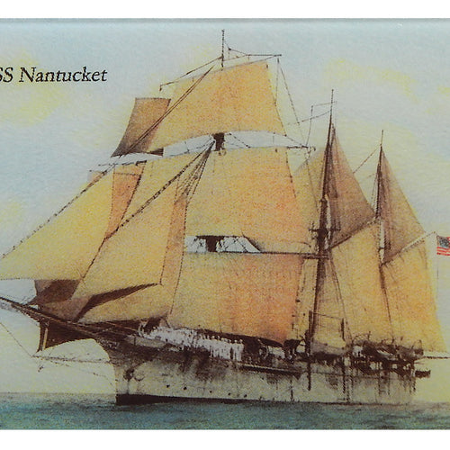 USS Nantucket Tempered Glass Cutting Board - That Fabled Shore Home Decor