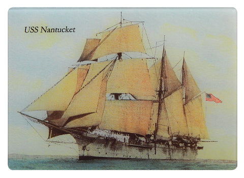 USS Nantucket Tempered Glass Cutting Board