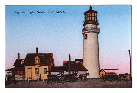 N. Truro - Highland Light Glass Cutting Board