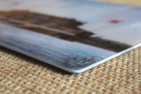 North Carolina's Cape Hatteras Lighthouse As Glass Cutting Board - That Fabled Shore Home Decor