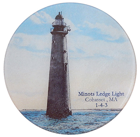 Minot Ledge Light Glass Cutting Board - That Fabled Shore Home Decor