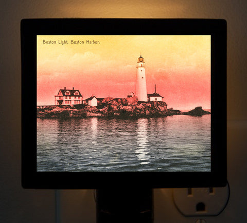 Boston Light At Dawn Night Light