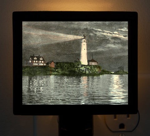 Boston Lighthouse Night Light - That Fabled Shore Home Decor