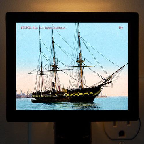 "Night Light - Ship ""U.S.S. Constitution"" - That Fabled Shore Home Decor"