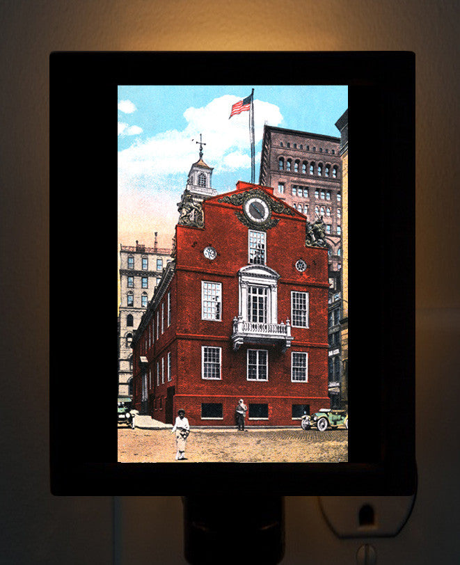 Boston Old State House Night Light - That Fabled Shore Home Decor