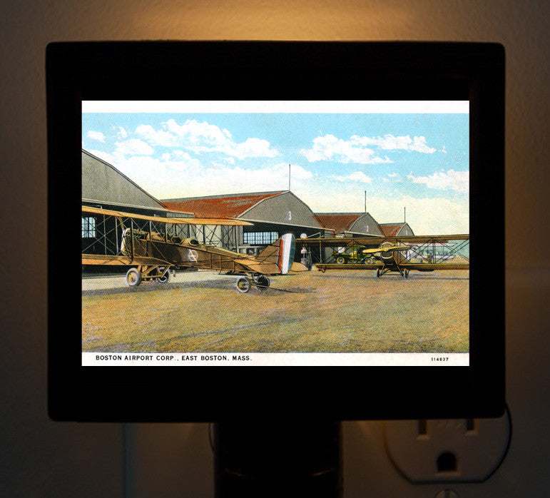 Early Logan Airport - Boston Night Light - That Fabled Shore Home Decor