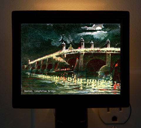Longfellow Bridge - Boston By Gaslight Series Night Light - That Fabled Shore Home Decor
