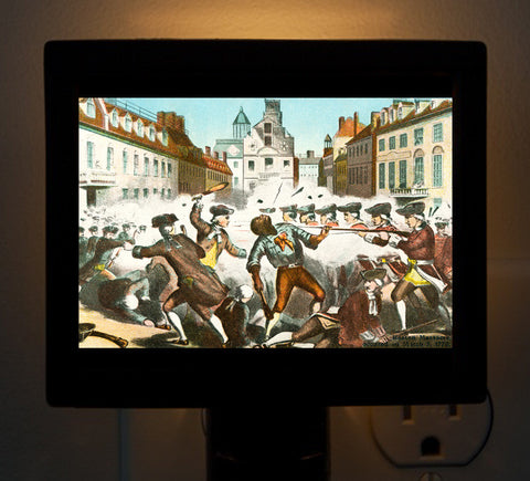 Boston Massacre Night Light - That Fabled Shore Home Decor
