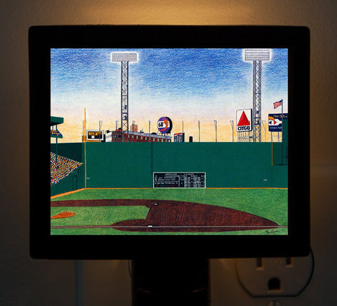 Green Monster Fenway Park - Pre-2003 Night Light - That Fabled Shore Home Decor