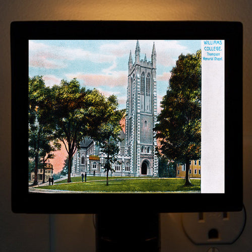 Williams College - Thompson Memorial Chapel Night Light - That Fabled Shore Home Decor