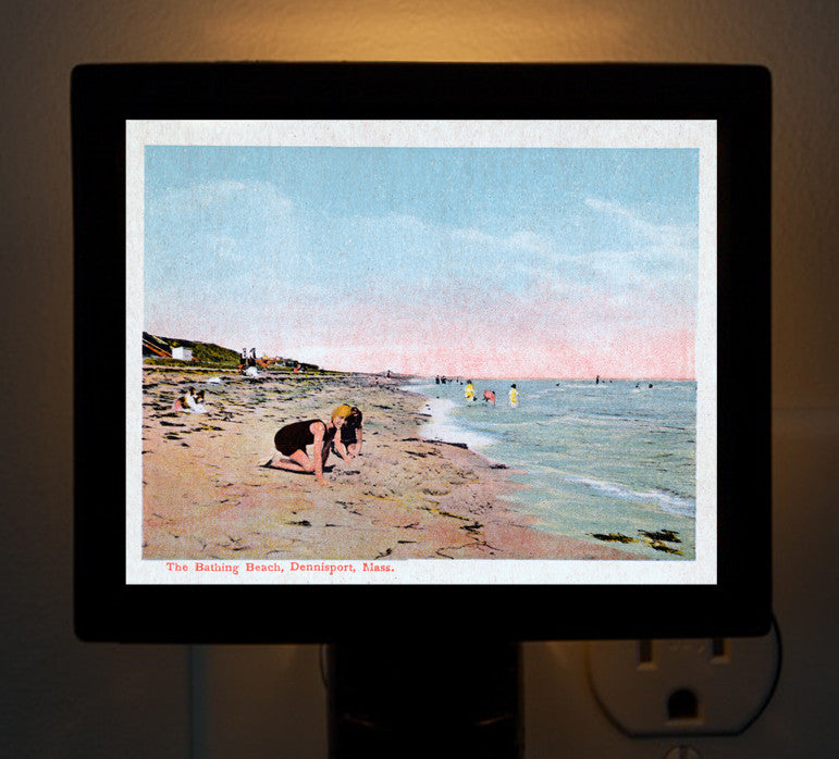 Dennisport - The Bathing Beach Night Light - That Fabled Shore Home Decor