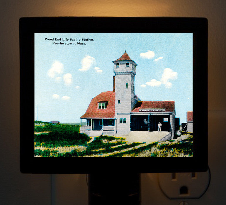 Provincetown - Wood End Life Saving Station Night Light - That Fabled Shore Home Decor
