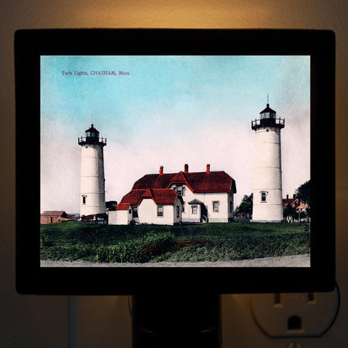 Chatham, MA - Twin Lights Night Light - That Fabled Shore Home Decor