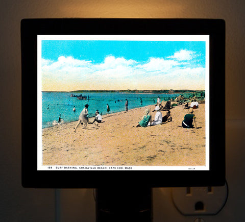 Craigville, MA - Beach Day Circa 1920 Night Light - That Fabled Shore Home Decor