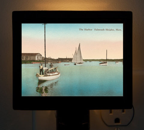 Falmouth Heights And The Harbor Night Light - That Fabled Shore Home Decor